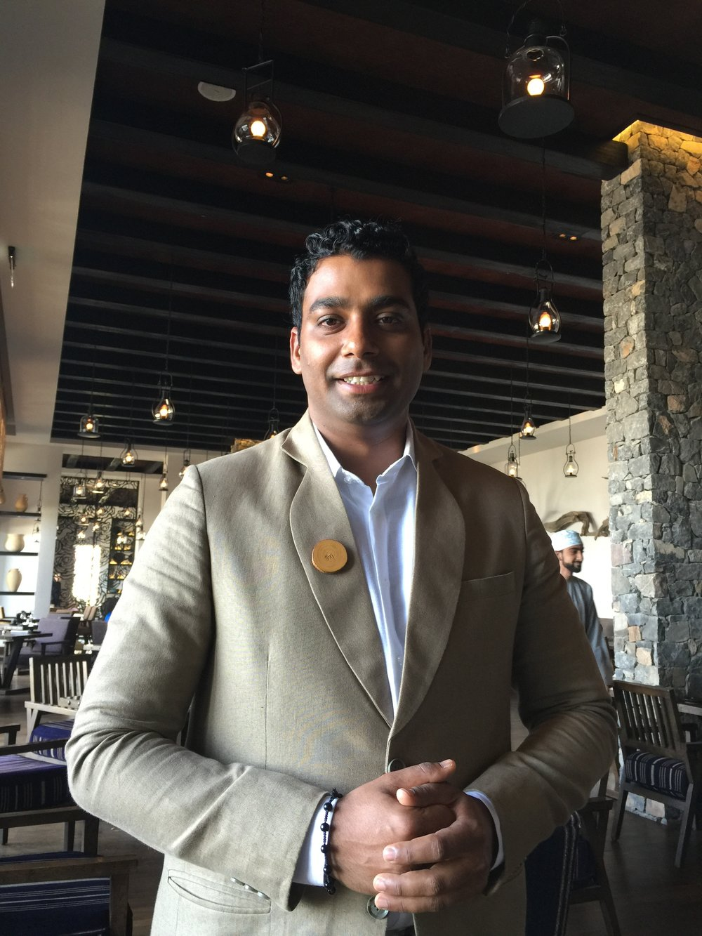 Mr. Saj - F&B Manager (Alila Jabal Akhdar)
