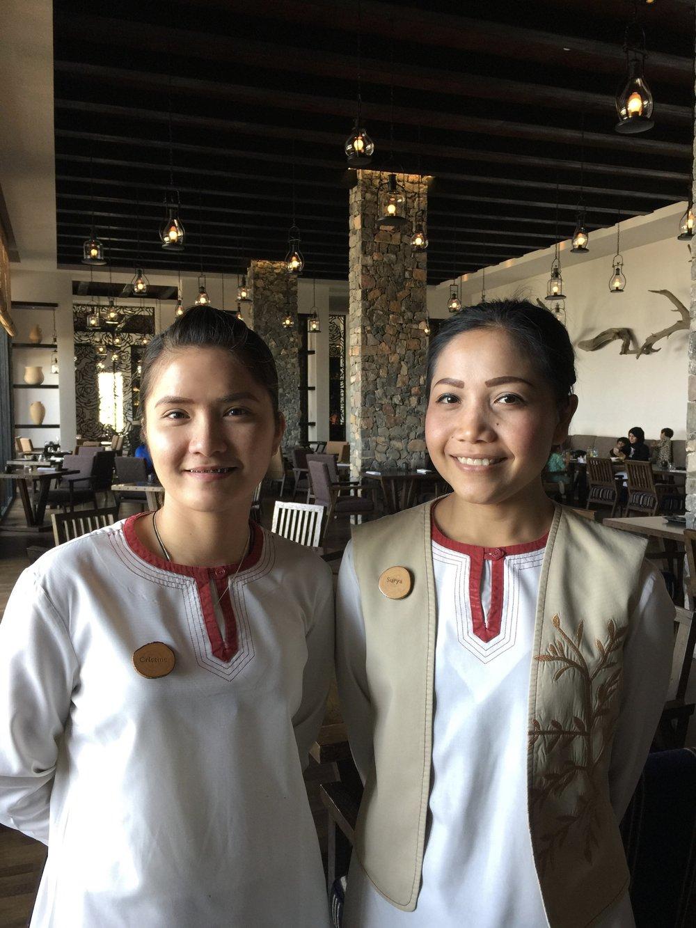 Ms. Cristine & Ms. Sunya - Juniper Staff  (Alila Jabal Akhdar)