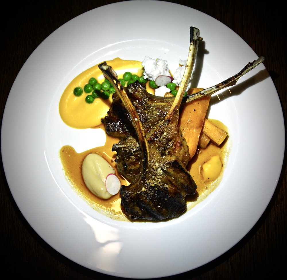 Lamb chop with baharat spices, roast pumpkin, goat cheese and Jabal honey  (Alila Jabal Akhdar)