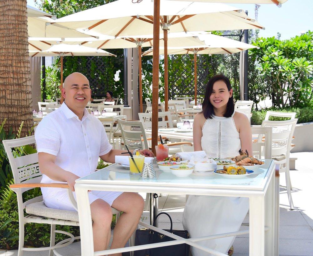 Lunch at Amalfi (Palazzo Versace Dubai)