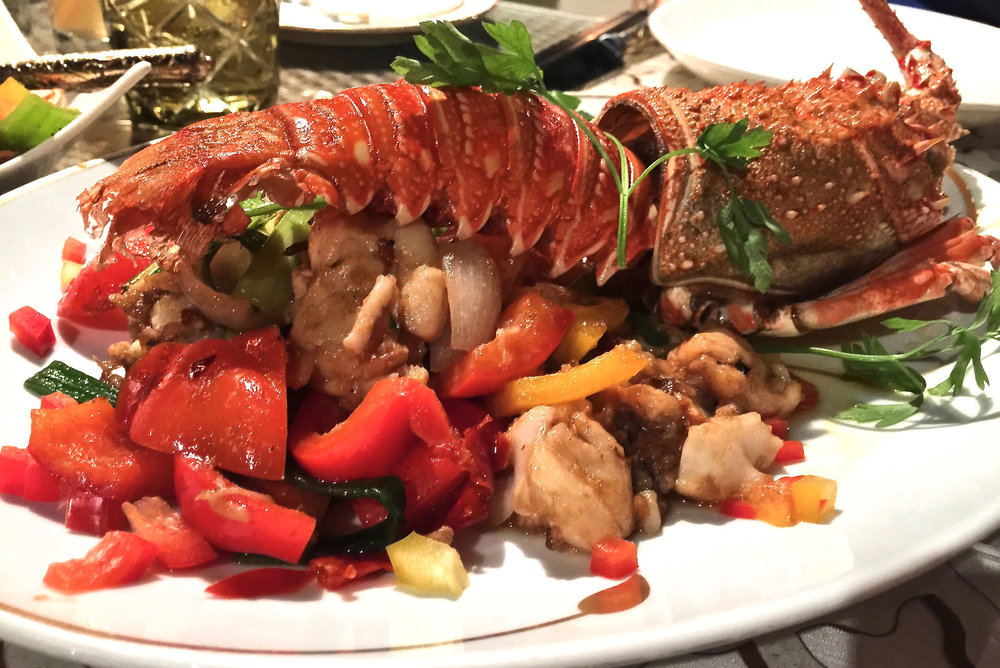 Wok Fried Lobster with XO Sauce