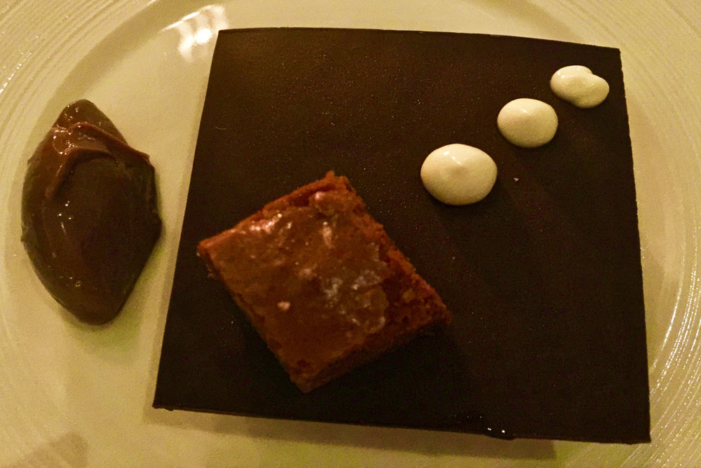 Chocolate Mousse, Chocolate Brownie, Milk Chocolate Cremeux, Chocolate Sauce