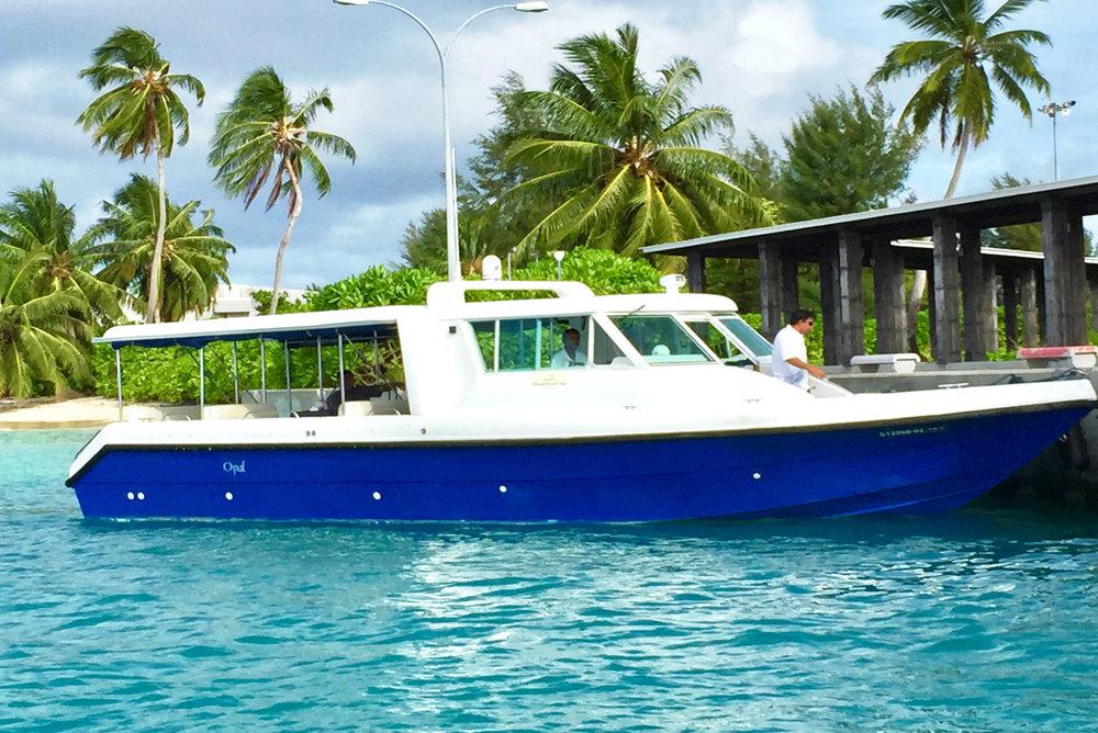 Boat transfer from Gan Airport to Shangri-La Maldives
