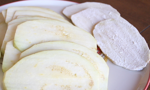 sliced-and-floured-eggplant-slices