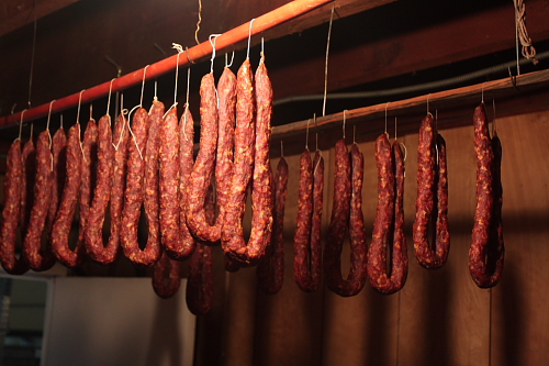 Cured Calabrian sausages