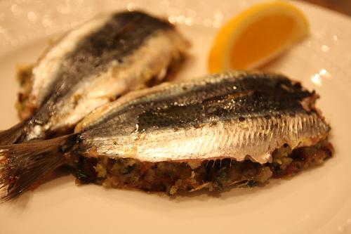 Baked stuffed sardines