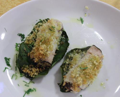 Swordfish rolls in Longobardi