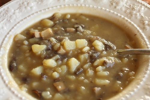 Zuppetta di porcini e patate