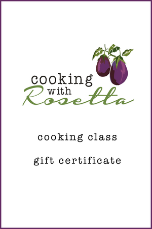Gift Certificate — Cooking With Rosetta