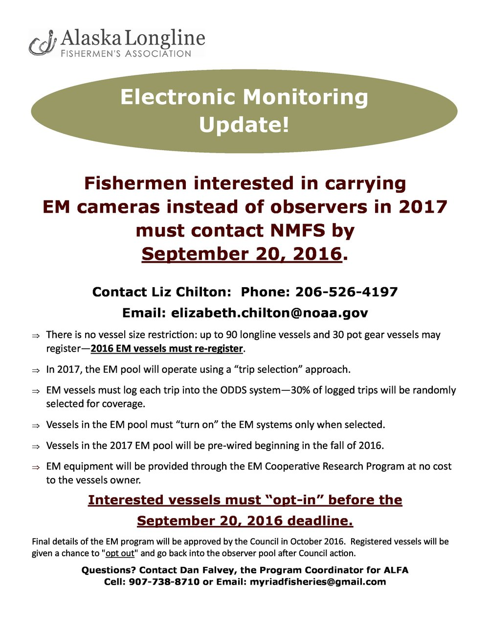Electronic Monitoring Update