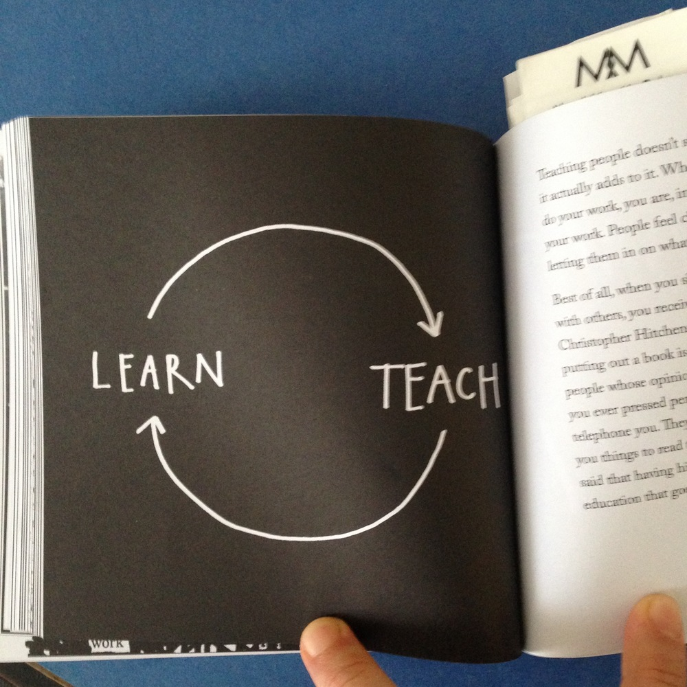 A page from Show Your Workby Austin Kleon