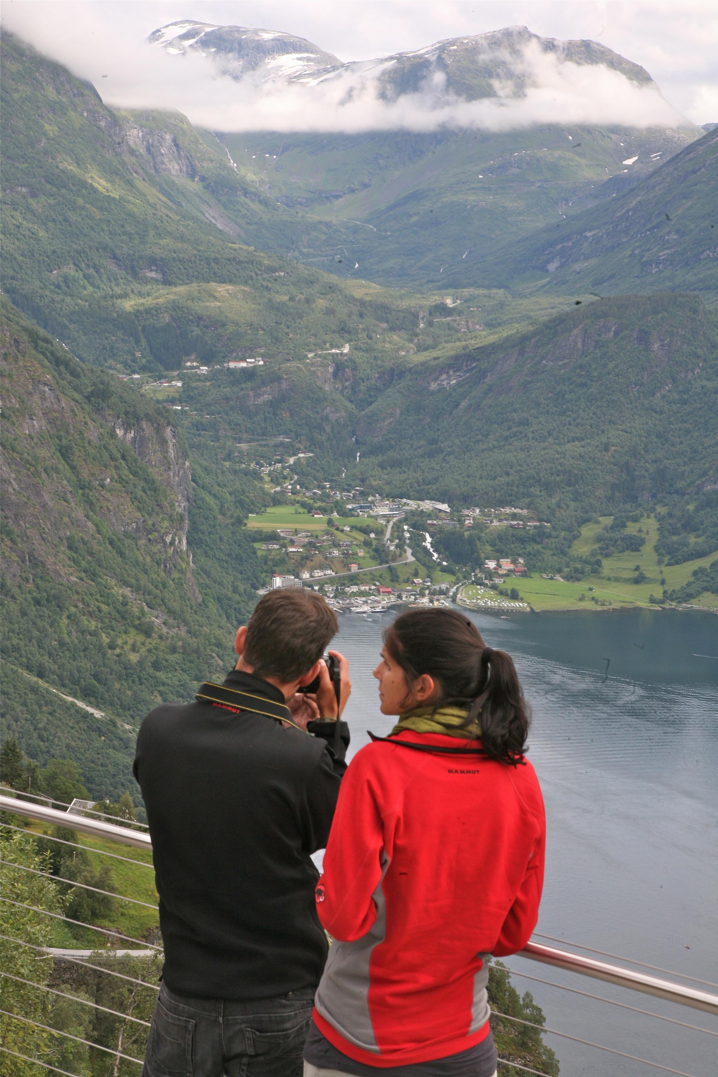 Vakker utsikt i Geiranger. Bilde: Odd Roar Lange