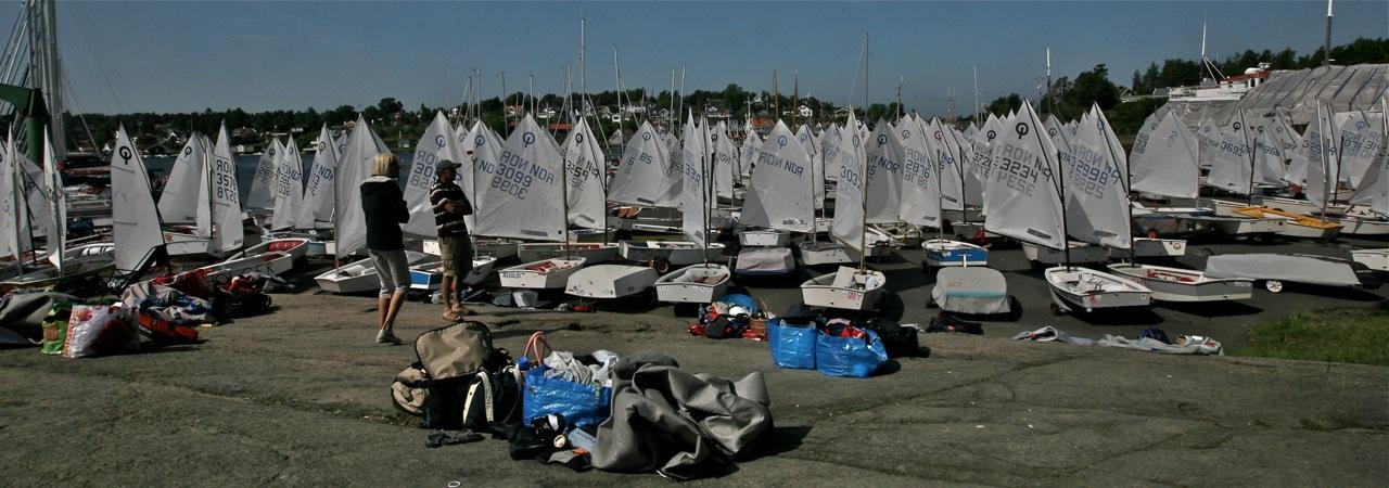 Noen av de 320 båtene som er på plass i Tønsberg. Alle bilder: Odd Rora Lange