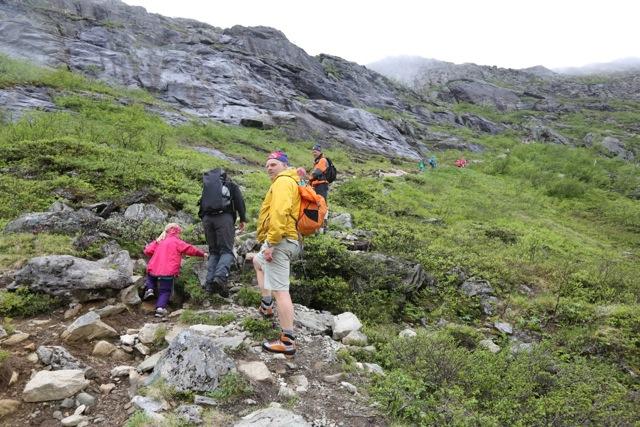 Fra starten av turen over Romsdalseggen