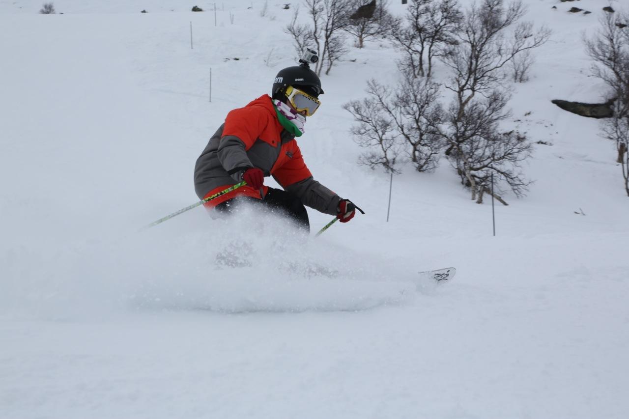 Jakob tester gopro - og skiføret