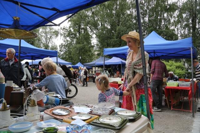 Fra dagens bruktmarked i Birkelunden på Grünerløkka.