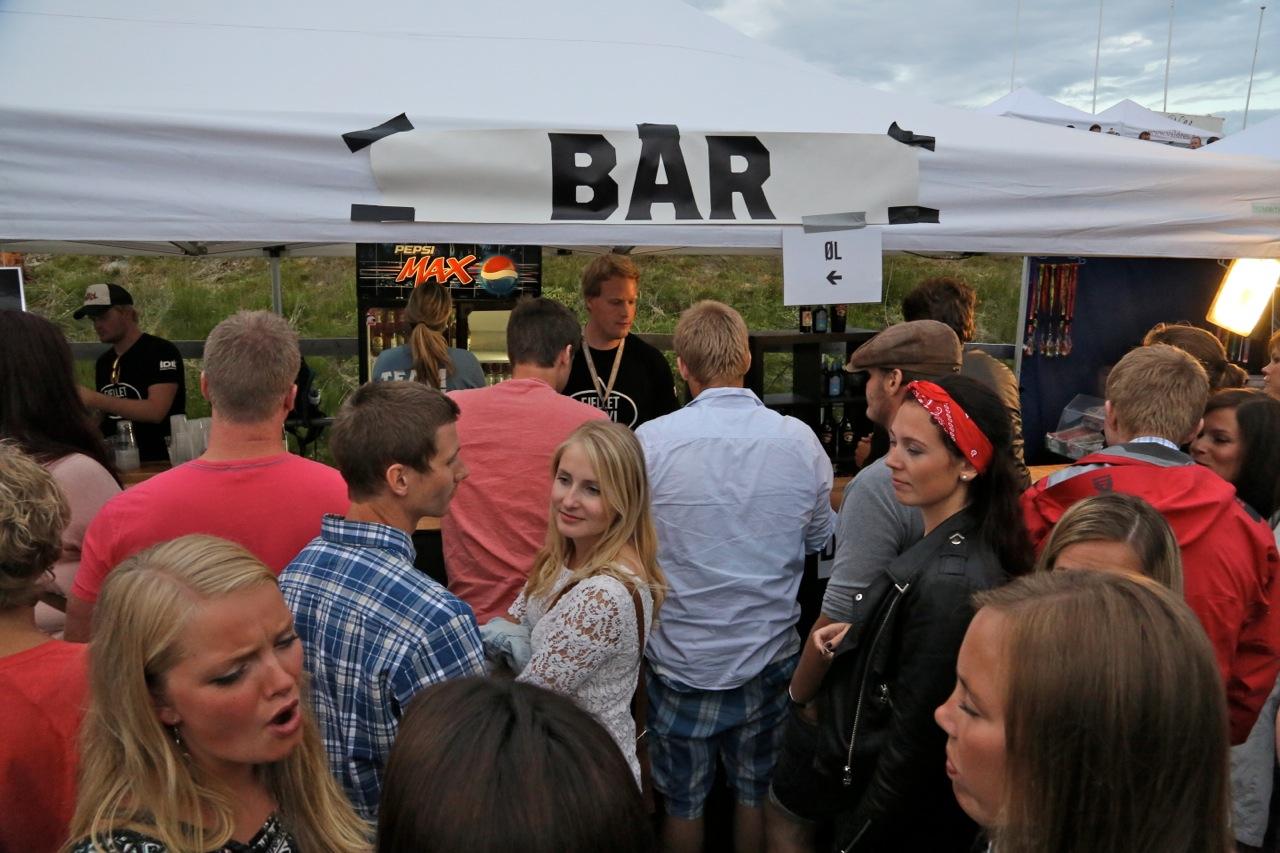 Bar-bonger fungerer kjapt og enkelt. Tenk om alle festivaler kunne hatt det samme.