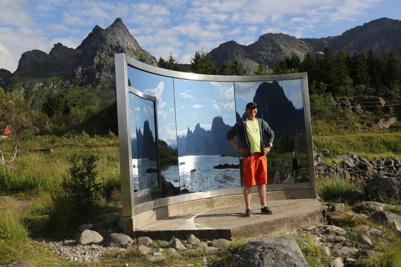 Et speilbilde av norsk natur. Her i fra Lofoten.