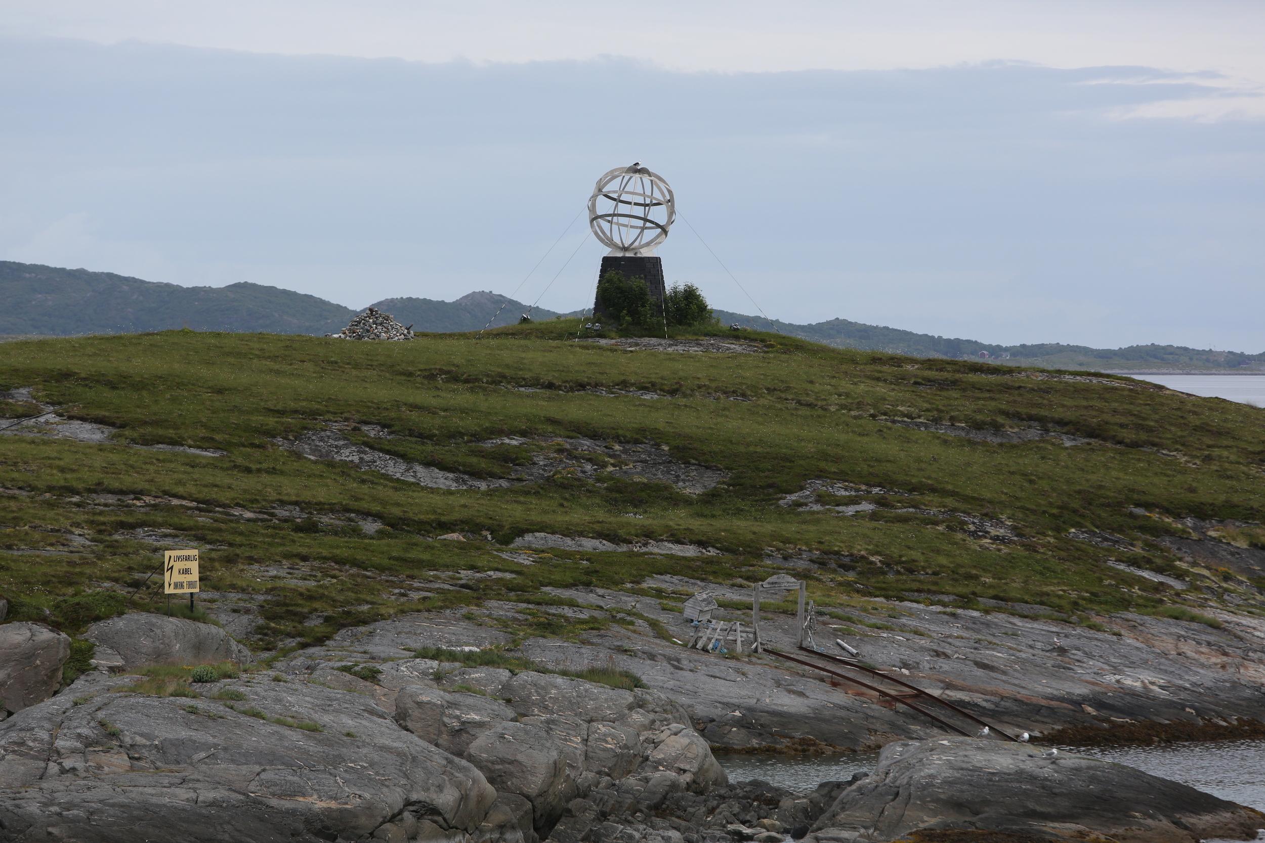 Globen er plassert på øya Vikingen