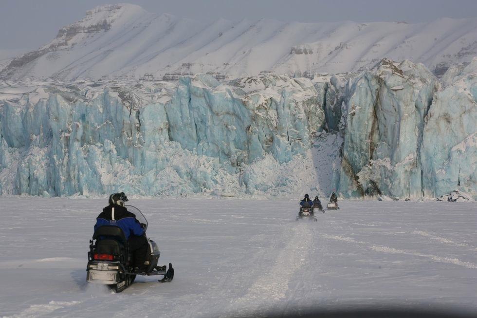 På vei til isbjørnsfari. Foto: Odd Roar Lange