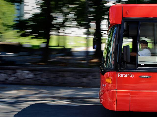 Oslobussene samornes via selskapet Ruter. Foto: Ruter AS