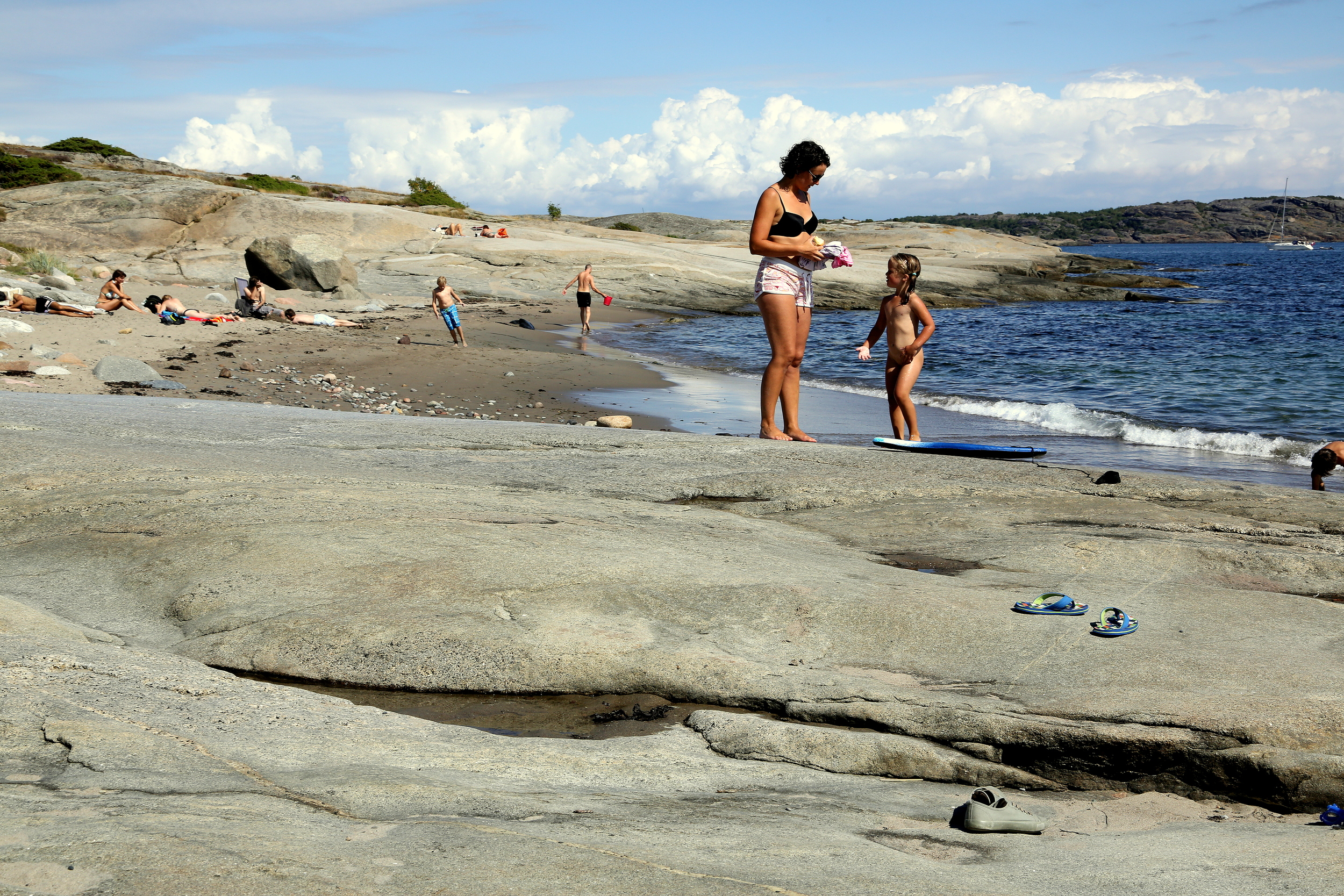 Klart for badegleder i juli. Her fra svabergene ved Lilleskagen på Tjøme. Alle bilder fra sommeren 2013