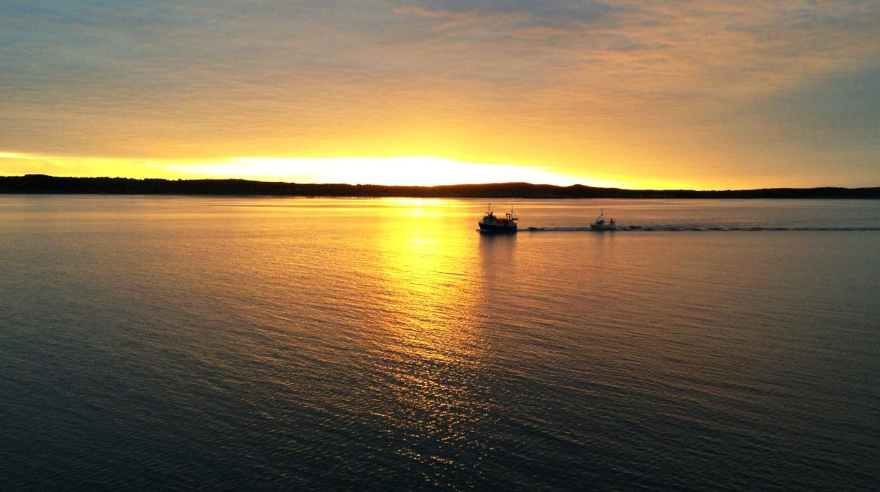 De vakreste solnedgangene. Perfekt for en kjærlighetstur. Foto: Odd Roar Lange
