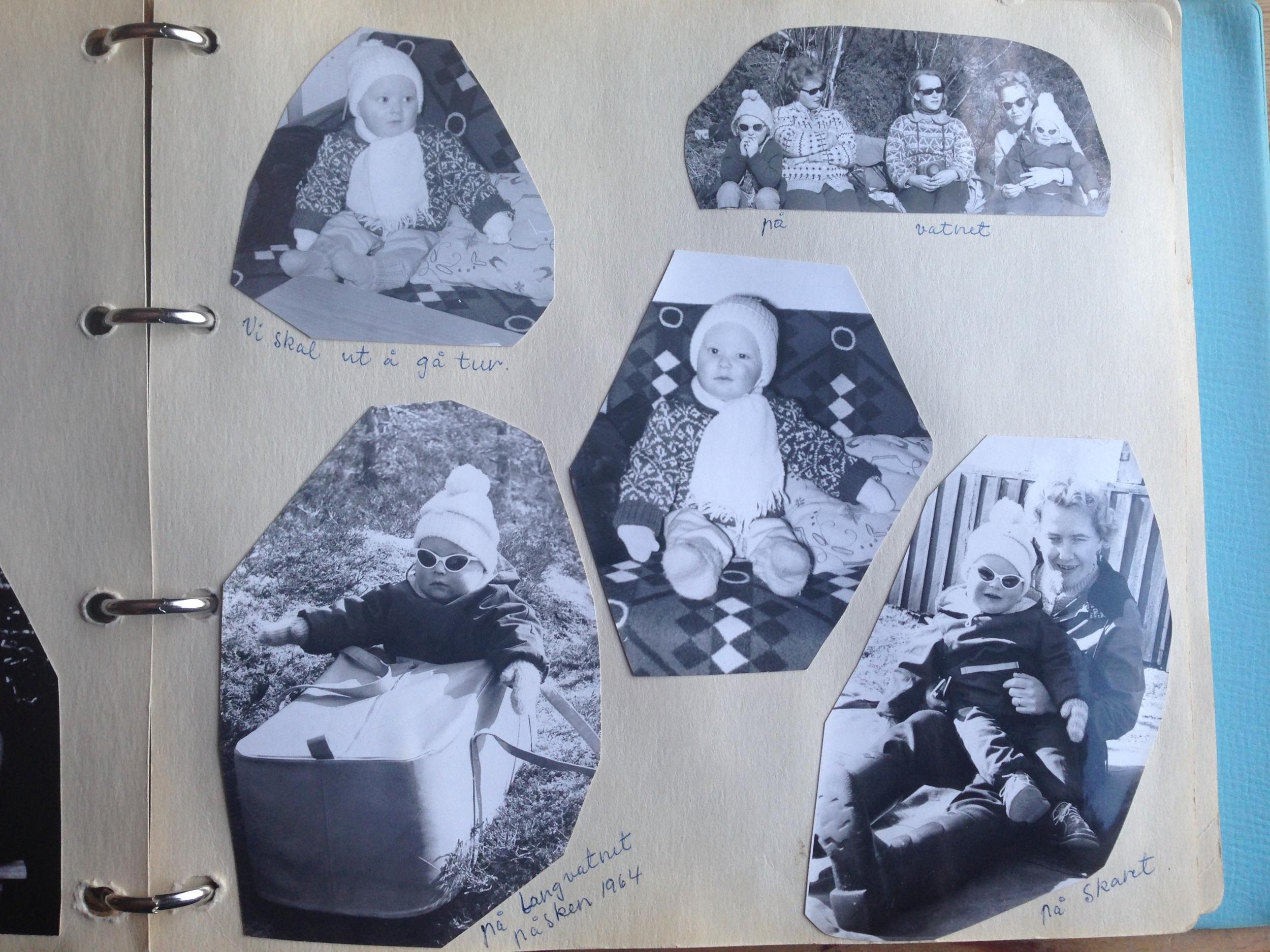 En kikk i fotoalbumet. Og det dukker opp turbilder på mange av sidene.