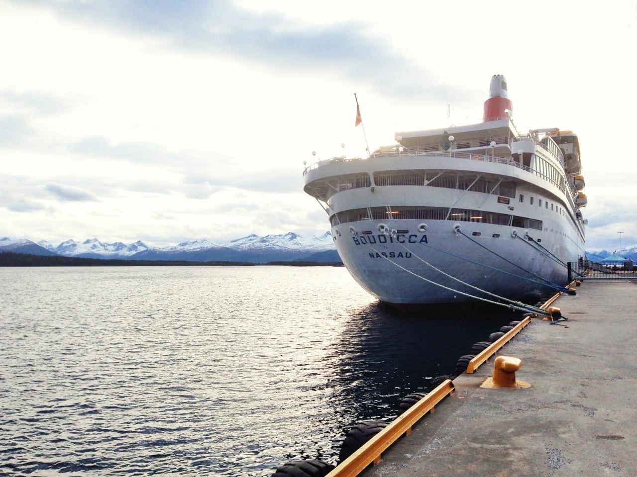 Vintercruise i Molde i februar. Ett av alt for få skip i 2014. Foto: Odd Roar Lange