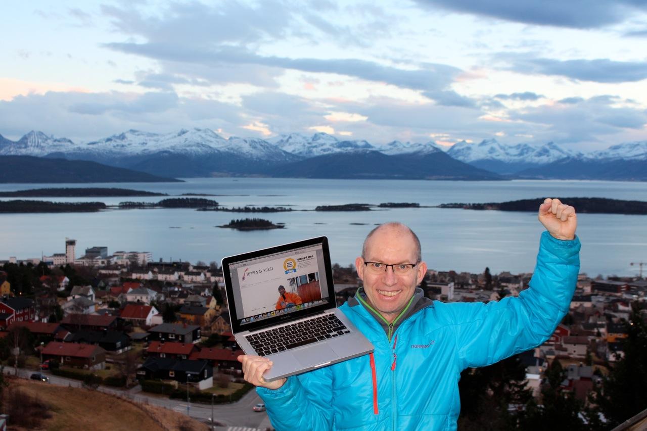 Ekte blogg-glede. Foto: Jakob Aarø Lange