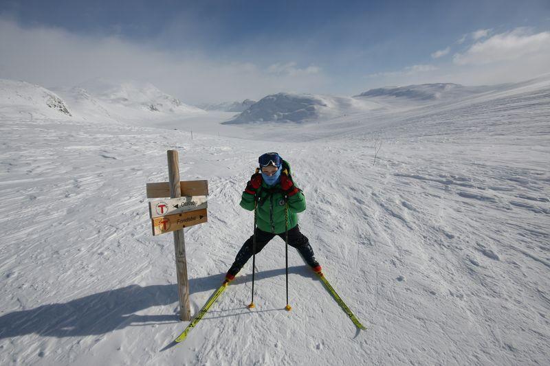 Klart for tur ved Fondsbu. Foto: Den Norske Turistforening