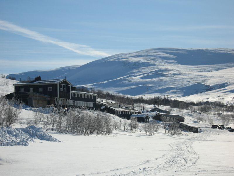 Gjendesheim i vinterprakt. Foto: Den Norske Turistforening