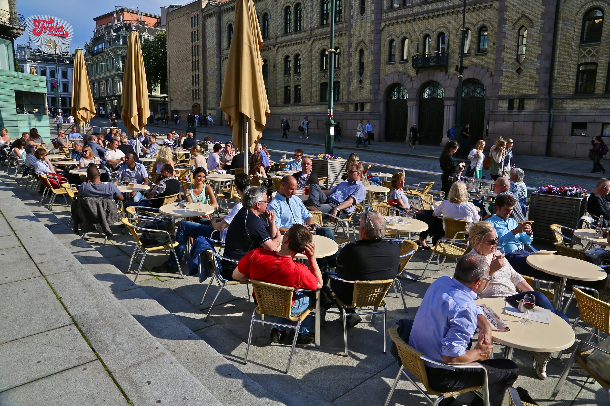 Sommerstemning i Oslo. Foto: Odd Roar Lange