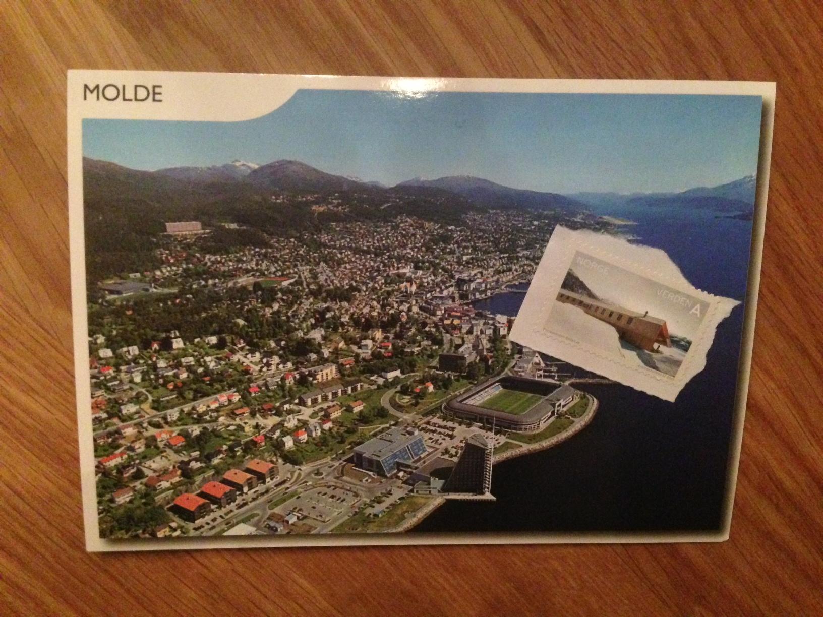 Dette kortet havnet hos Dasha i Russland. Foto: Odd Roar Lange