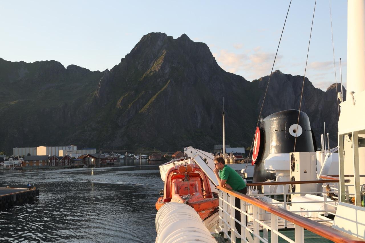 På vei med Hurtigruten