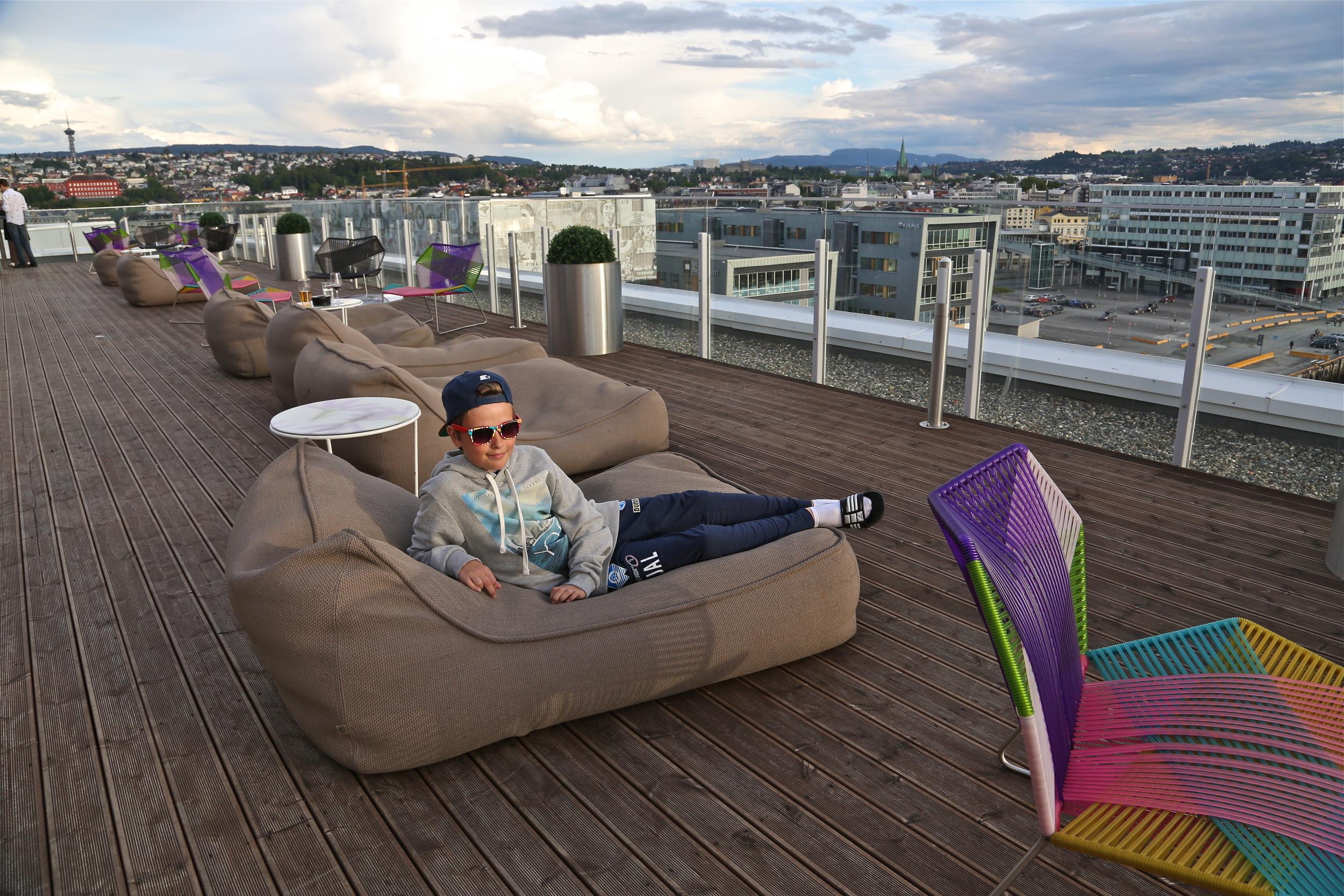 Det gode liv en mandags kveld i Trondheim,