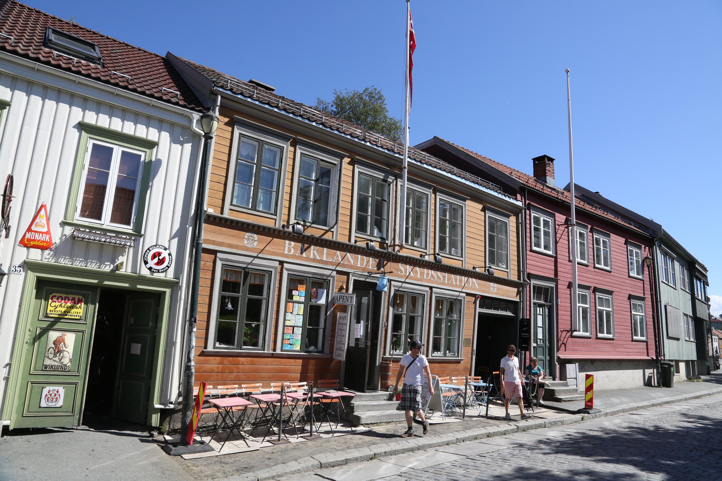 Baklandet Skydsstation. Et fint sted for turister som besøker Trondheim. Foto: Odd Roar Lange