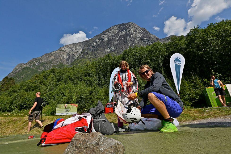 Tom Erik Heimen og Kjersti Eide er blant deltagerne i World Base Race. Foto: Odd Roar Lange
