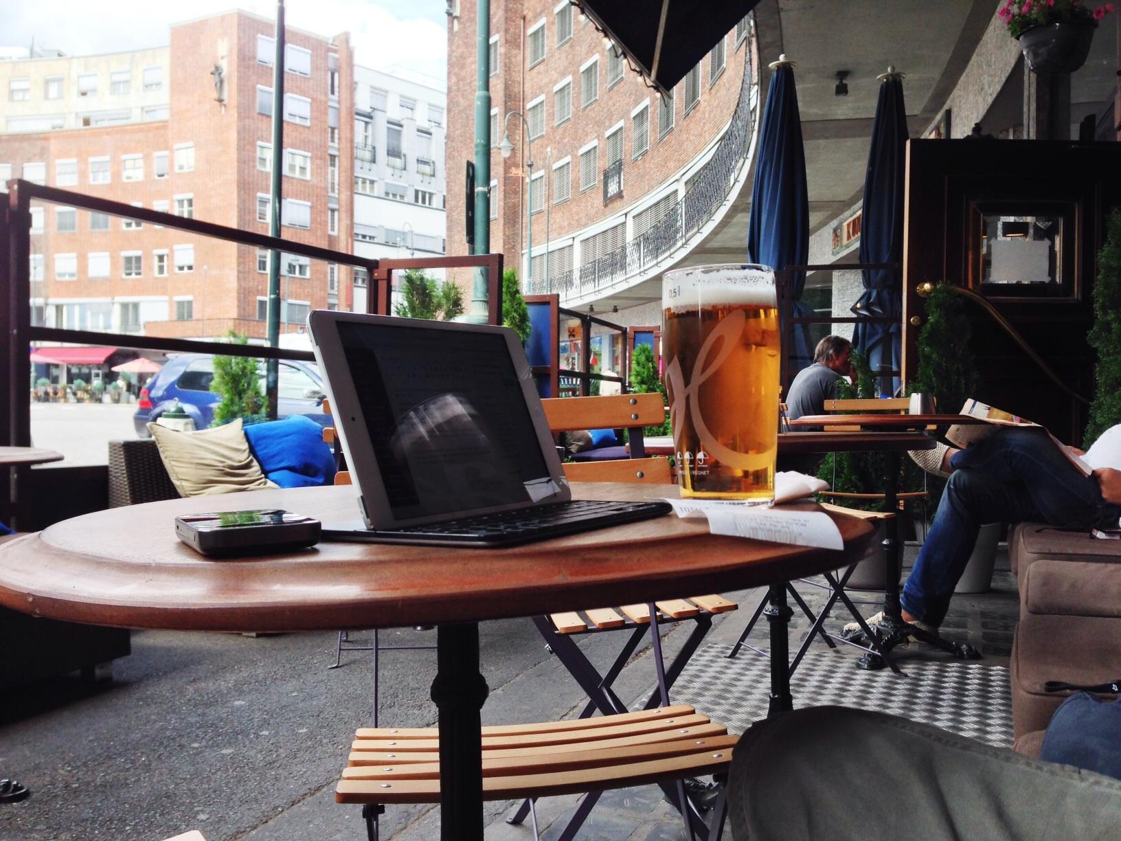 Dagens test hos Fridtjof Pub i Oslo. Foto: Odd Roar Lange