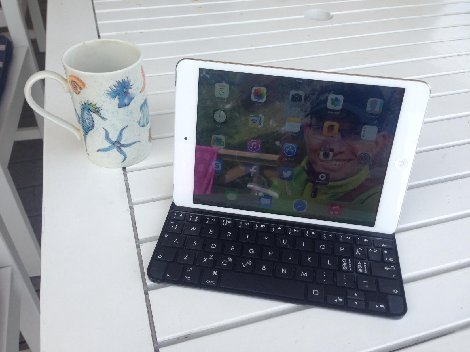 Med IpadMini og Logitech Ultrathin tastatur er det lett å blogge uansett hvor jeg er i sommer. Særlig hvis jeg bruker de rette appene.
