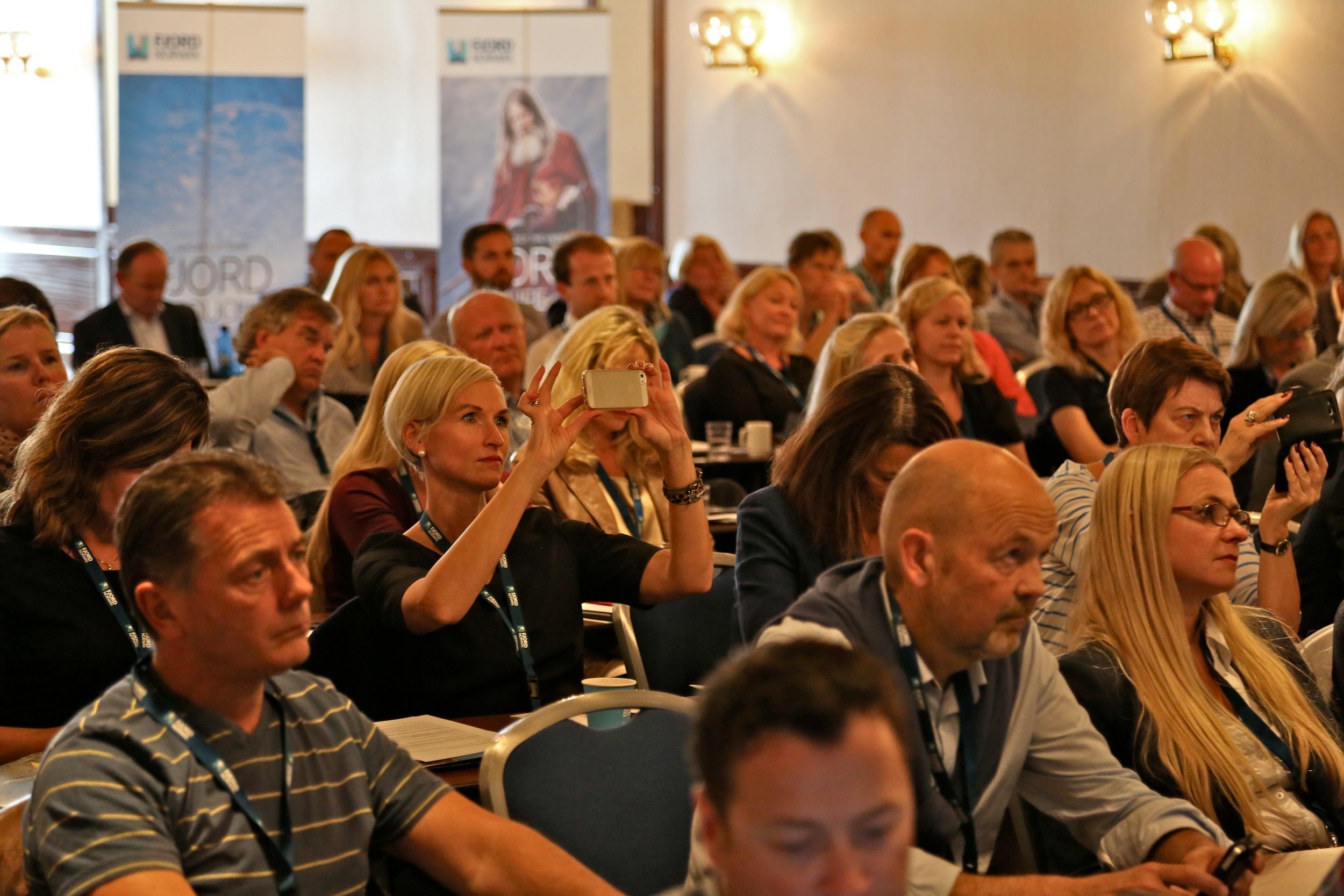 På jakt etter gode ideer. Torger Reves foredrag vakte oppmerksomhet. Foto: Odd Roar Lange