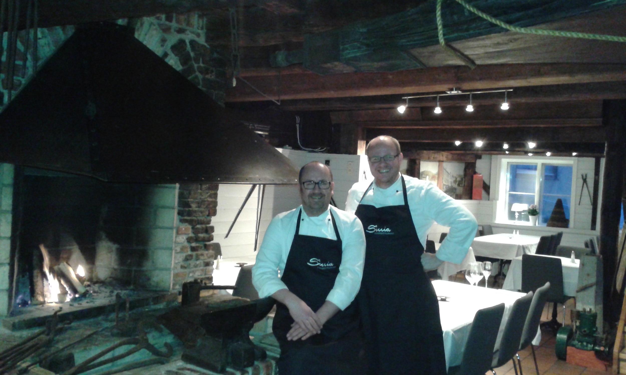 Olav Kåre Jørgensen og Stian Røsand er klare for nye oppgaver. Denne gangern som matsmeder. Foto: Privat