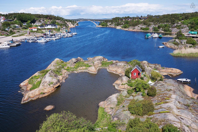 Hytte på egen øy på Hvaler