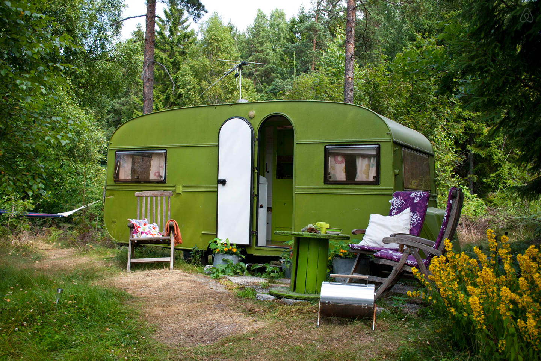 Retro campingvogn.
