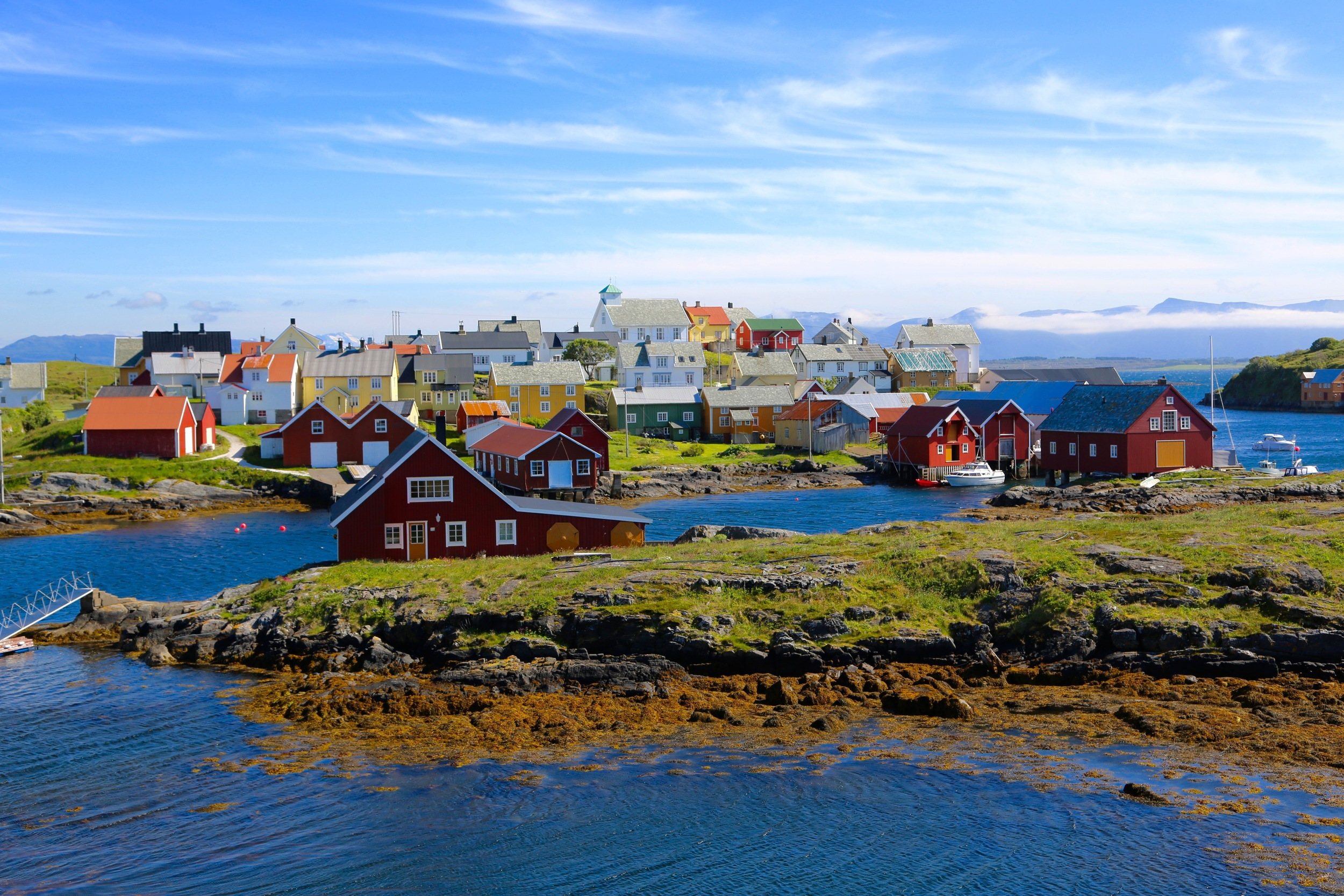 Dette er Nordre Bjørnsund - sett fra Moøya hvor det automatiserte fyret står. Foto: Odd Roar Lange