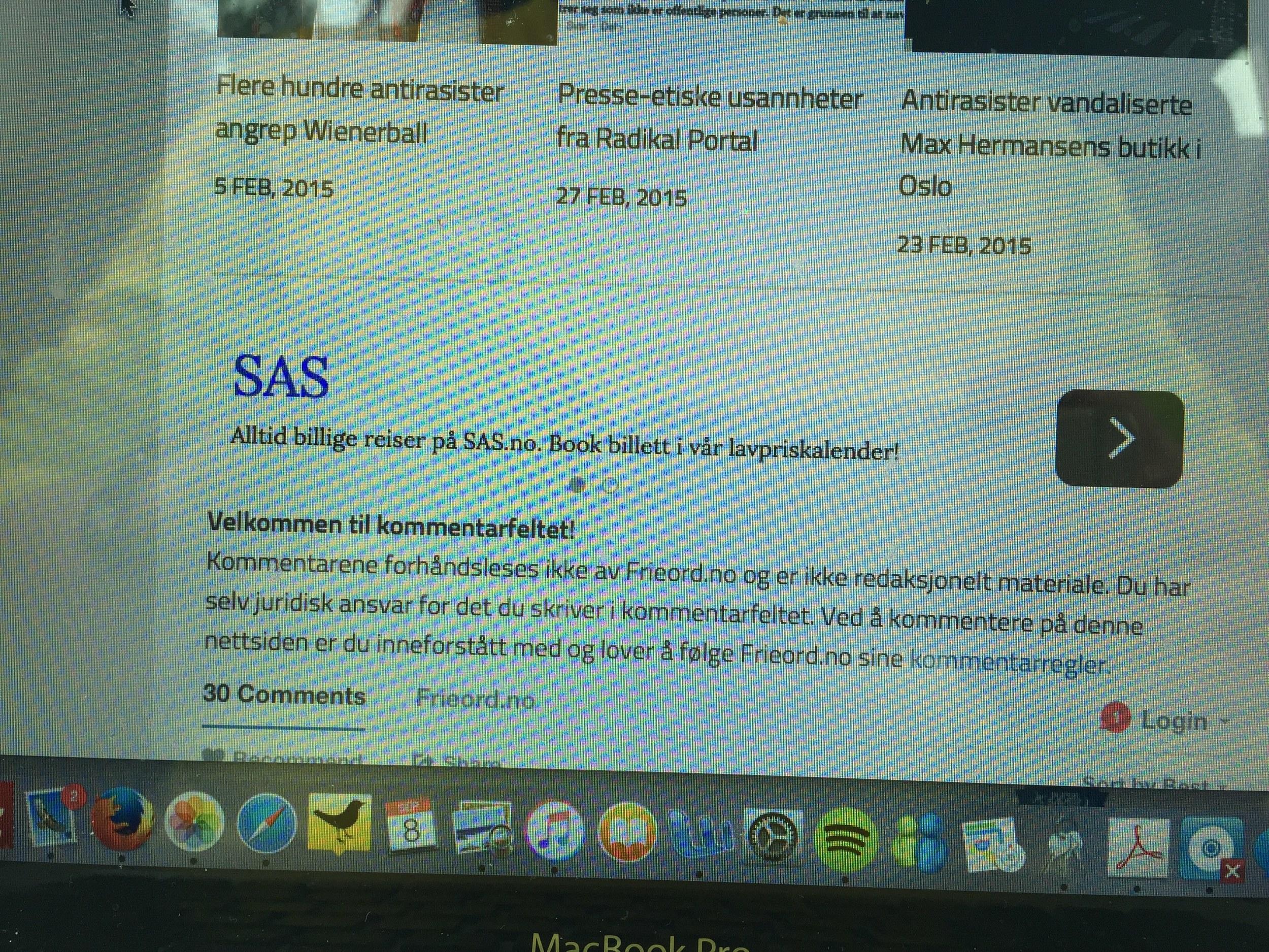 Denne annonsen fra SAS er fjernet fra nettsiden.