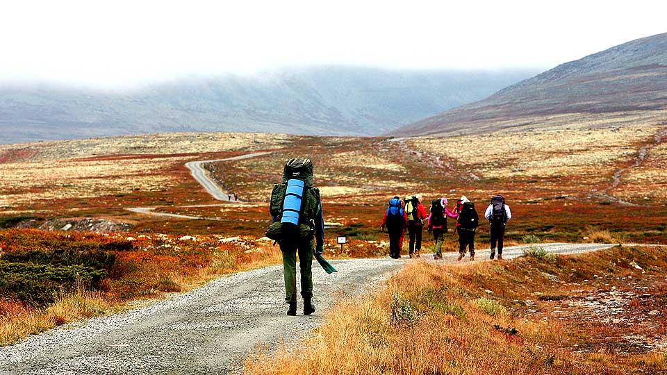 Spranget er et av utgangsstedene for trekanten i Rondane. Foto: Odd Roar Lange