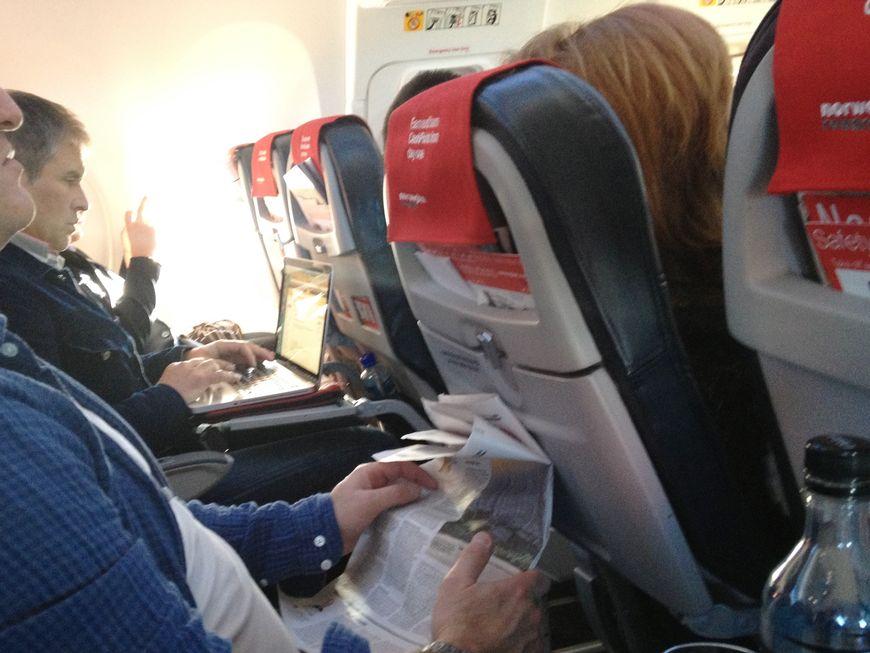 Nei, det er ikke ok å slå ned seteryggen når det blir slik. Foto: Odd Roar Lange