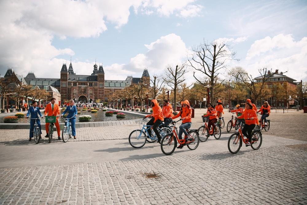 Fra turen til Nederland. Foto: KLM/Heineken