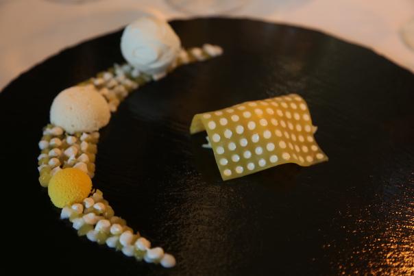 Dessert med ananas, kokos og vanilje - på Frederikshøjs måte. Foto: Odd Roar Lange